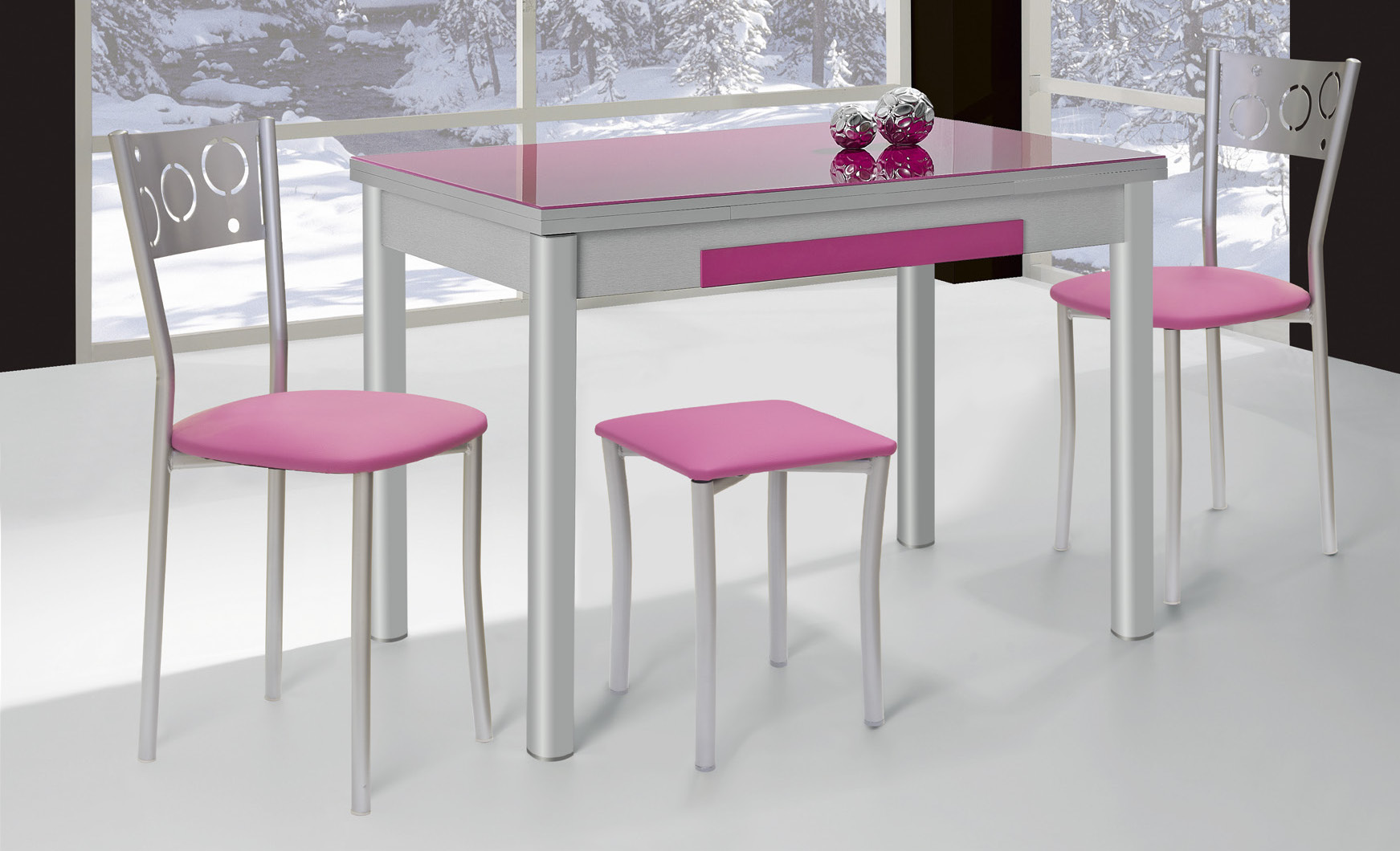 Mesas madera-metal / Imeci - Fábrica de Mesas y Sillas de Cocina y ...